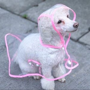 Other - Clear Pink Dog Rain Coat